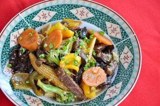 Chunky Vegetables with Beef