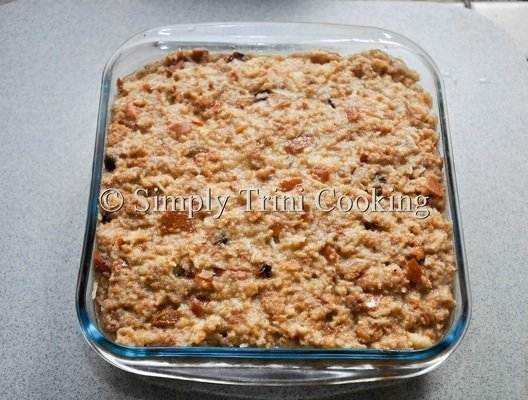 bread and butter coconut pudding