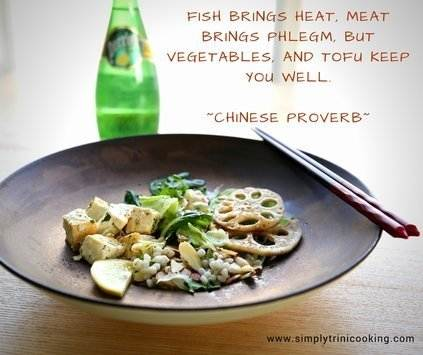 vegetables and tofu keep you well