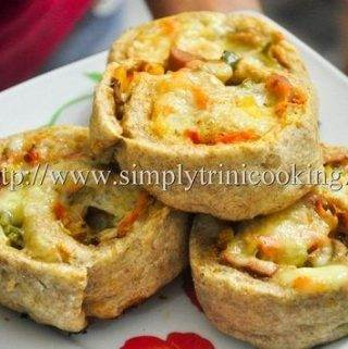 Homemade Pizza Rolls and Cups