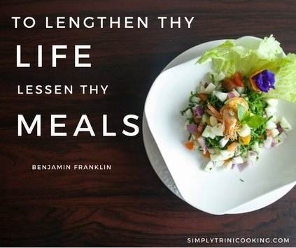 To lengthen thy life, lessen thy meals
